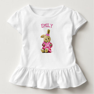 Personalized Pink Bunny Rabbit Toddler's Shirt