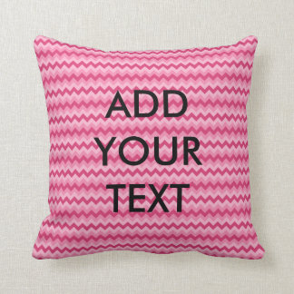 Personalized Pink Chevron Pillow