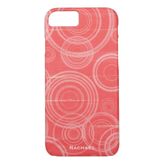 Personalized Pink Circles iPhone 8/7 Case