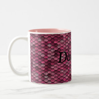 Personalized Pink Dragon Scale Fantasy Mug