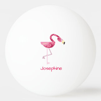 Personalized Pink Flamingo Bird Ping Pong Ball