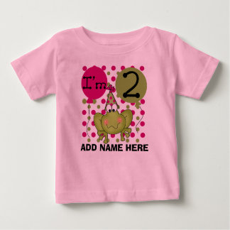 Personalized Pink Frog 2nd Birthday T-shirt