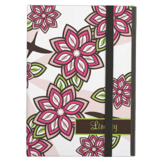 Personalized Pink Green Cherry Apple Blossom Case For iPad Air