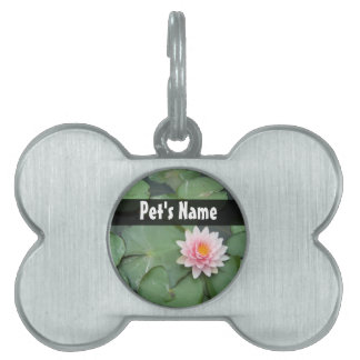 Personalized Pink/Green Lily Pad Pet Tag