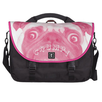 Personalized PINK Grumpy Puggy Computer Bag