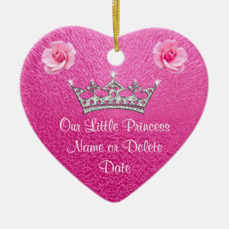 Personalized Pink Our Little a Princess Ornaments