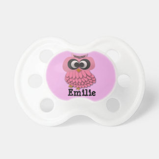 Personalized Pink Owl Pacifier