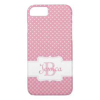 Personalized Pink Polka Dot iPhone 8/7 Case