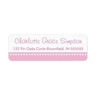 Personalized Pink Polka Dot Return Address Label