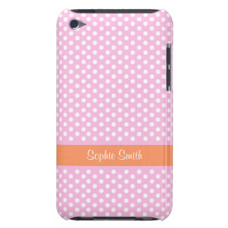 Personalized Pink Polka Dots iPod Touch Case