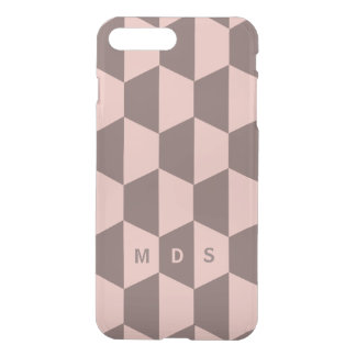 Personalized Pink Rose Trapezoid Geometric iPhone 8 Plus/7 Plus Case
