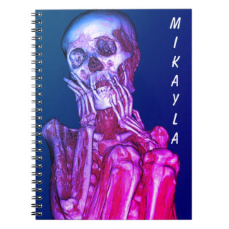 Personalized Pink Skeleton Radiography Spiral Notebook