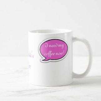 Personalized Pink Speech Bubble Basic White Mug