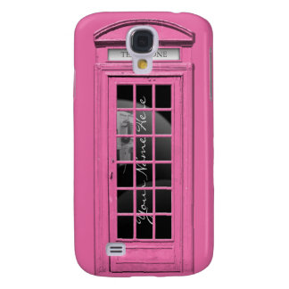 Personalized Pink Telephone Galaxy S4 Case