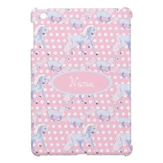 Personalized pink unicorn polkadot iPad mini case