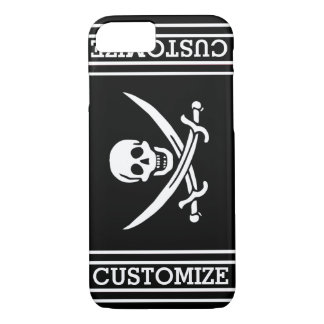 Personalized Pirate Flag iPhone 7 Case