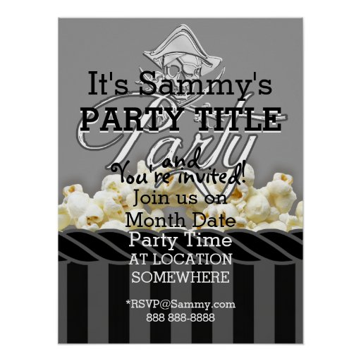 Personalized Pirate Party Print