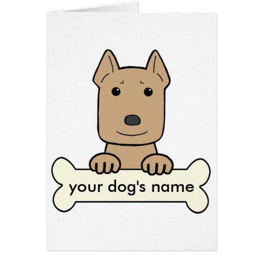 Personalized Pitbull Greeting Card