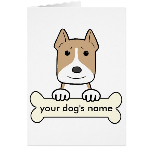 Personalized Pitbull Card