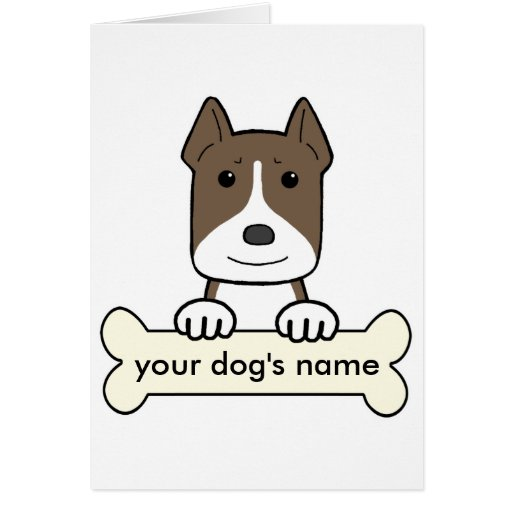 Personalized Pitbull Cards