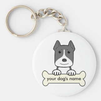 Personalized Pitbull Key Ring