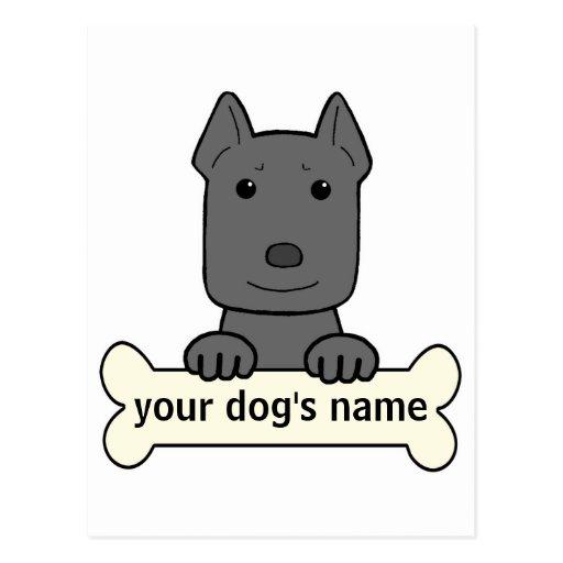 Personalized Pitbull Post Card