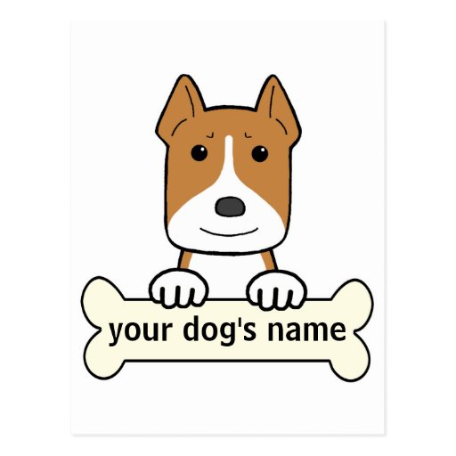 Personalized Pitbull Postcards