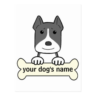 Personalized Pitbull Postcard