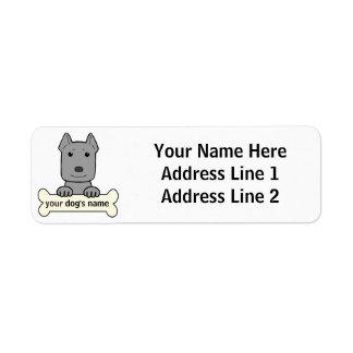 Personalized Pitbull Return Address Label