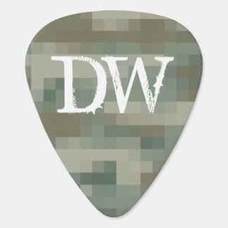 Personalized pixel camouflage guitar pick