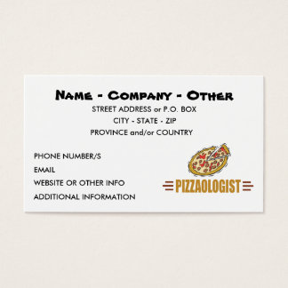 Personalized Pizza Business Card