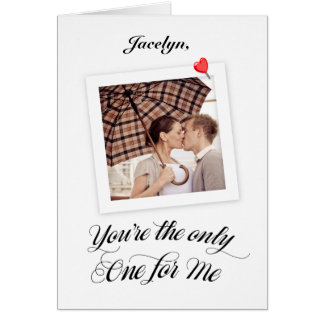 Personalized Polaroid Valentine Card with Photo