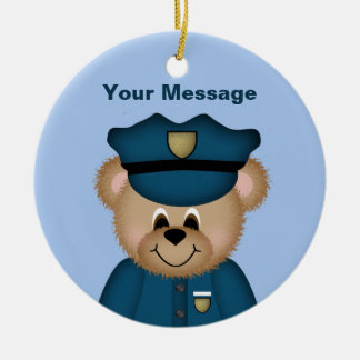 Personalized Police Christmas Ornament