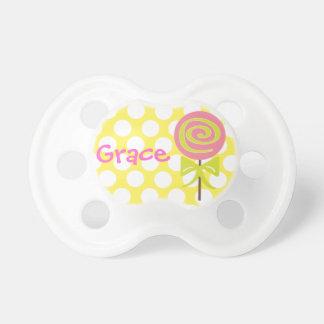 Personalized Polka Dot Lollipop Pacifier