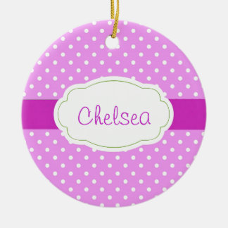 Personalized Polka Dot Ornament