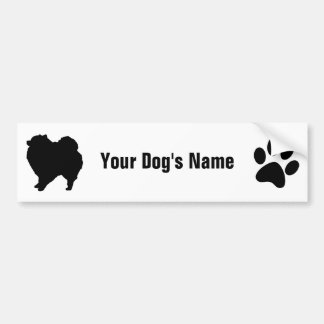 Personalized Pomeranian ポメラニアン Bumper Sticker