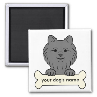 Personalized Pomeranian Square Magnet