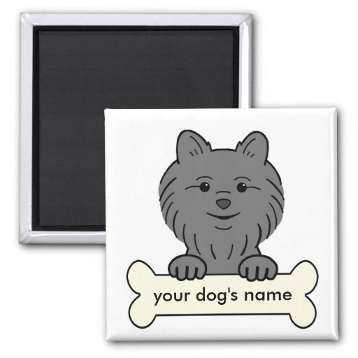 Personalized Pomeranian Refrigerator Magnets