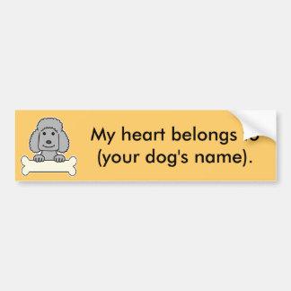 Personalized Poodle Bumper Sticker
