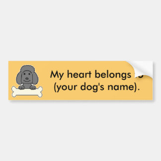 Personalized Poodle Bumper Sticker