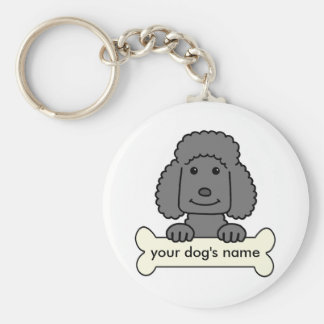 Personalized Poodle Key Ring