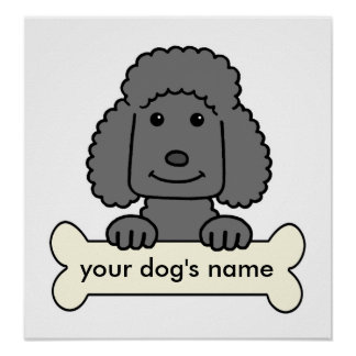 Personalized Poodle Poster