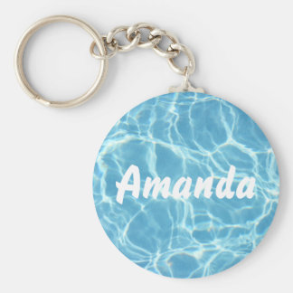 Personalized Pool Water Keychain