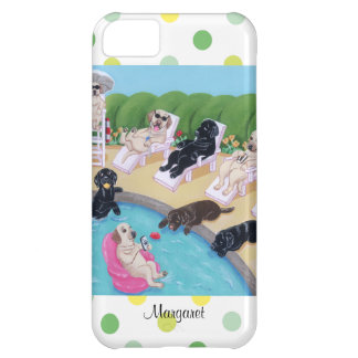 Personalized Poolside Party Labradors iPhone 5C Case