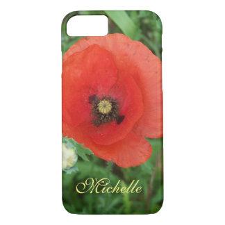Personalized Poppy Cornish Wildflower Meadow iPhone 8/7 Case