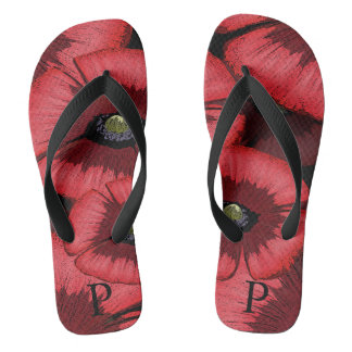 Personalized Poppy Flip Flops