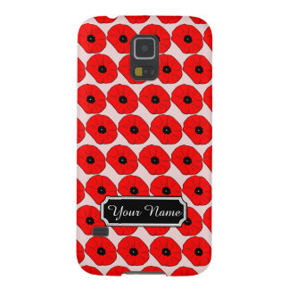 Personalized Poppy Flowers Samsung Galaxy S5 Case