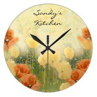 Personalized Poppy Kitchen Clock
