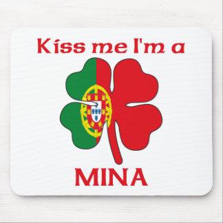Personalized Portuguese Kiss Me I'm Mina Mouse Pad