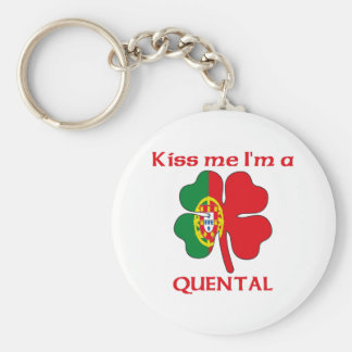 Personalized Portuguese Kiss Me I'm Quental Keychains